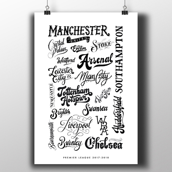 Football lettering